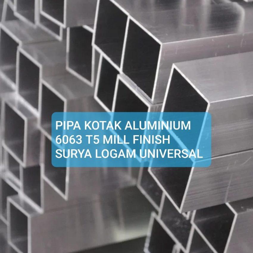 holo hollow pipa kotak aluminium